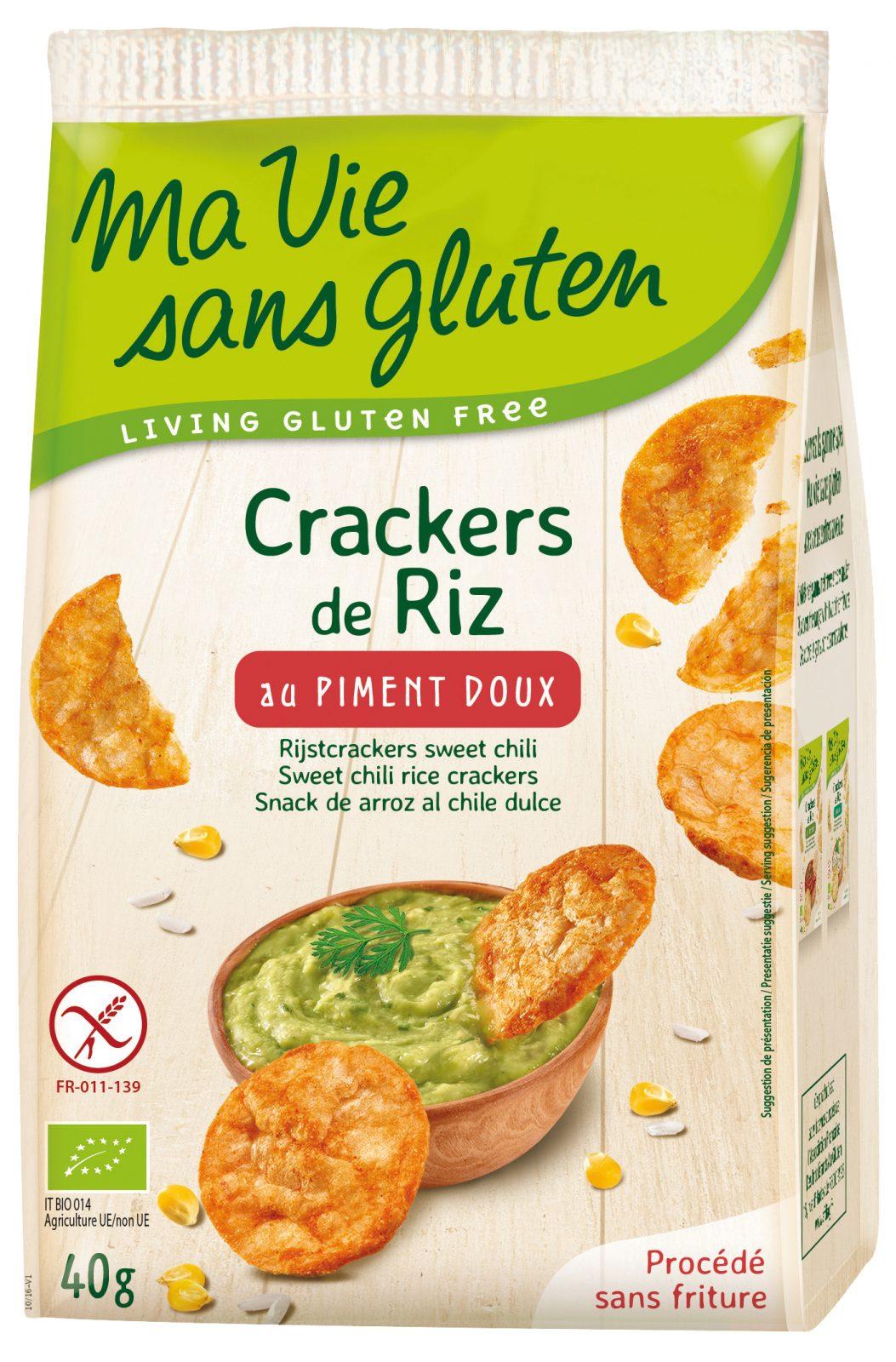 Ma vie sans gluten - Crackers - Crackers de riz au piment doux - 40g