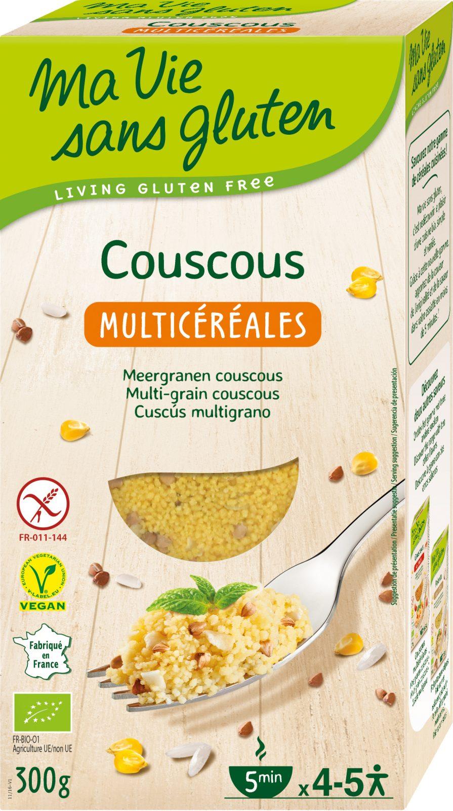 Ma Vie Sans Gluten - Recettes de céréales - Couscous multicéréales - 300g