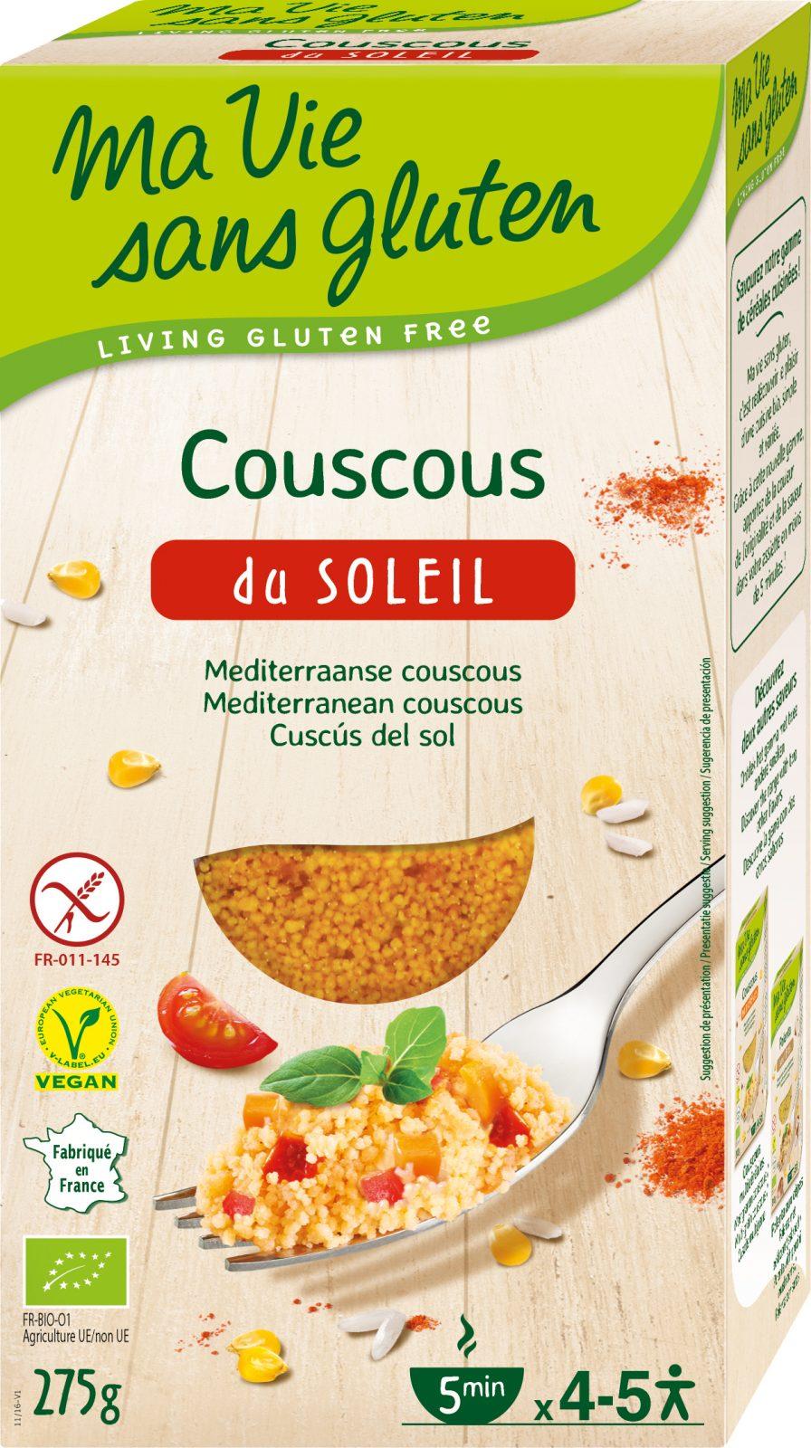 Ma Vie Sans Gluten - Recettes de céréales - Couscous du Soleil - 275g