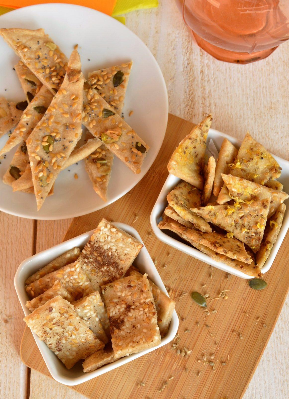 Les Crackers Apéritifs sans gluten à la méditerranéenne