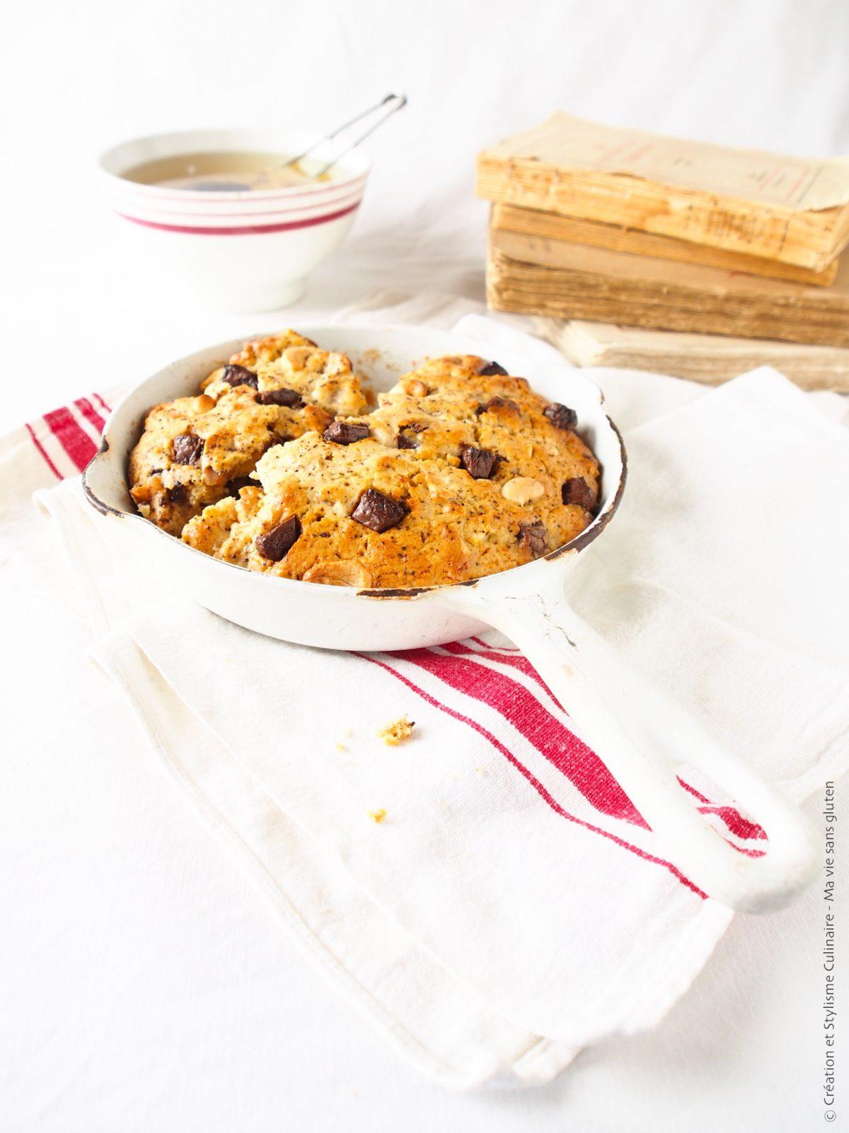 Maxi cookie aux pépites de chocolat et noix de cajou sans gluten