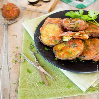 Beignets d'aubergine vegan et sans gluten