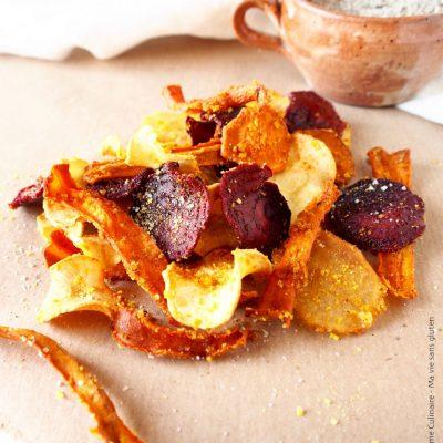 Chips de légumes à la chapelure sans gluten