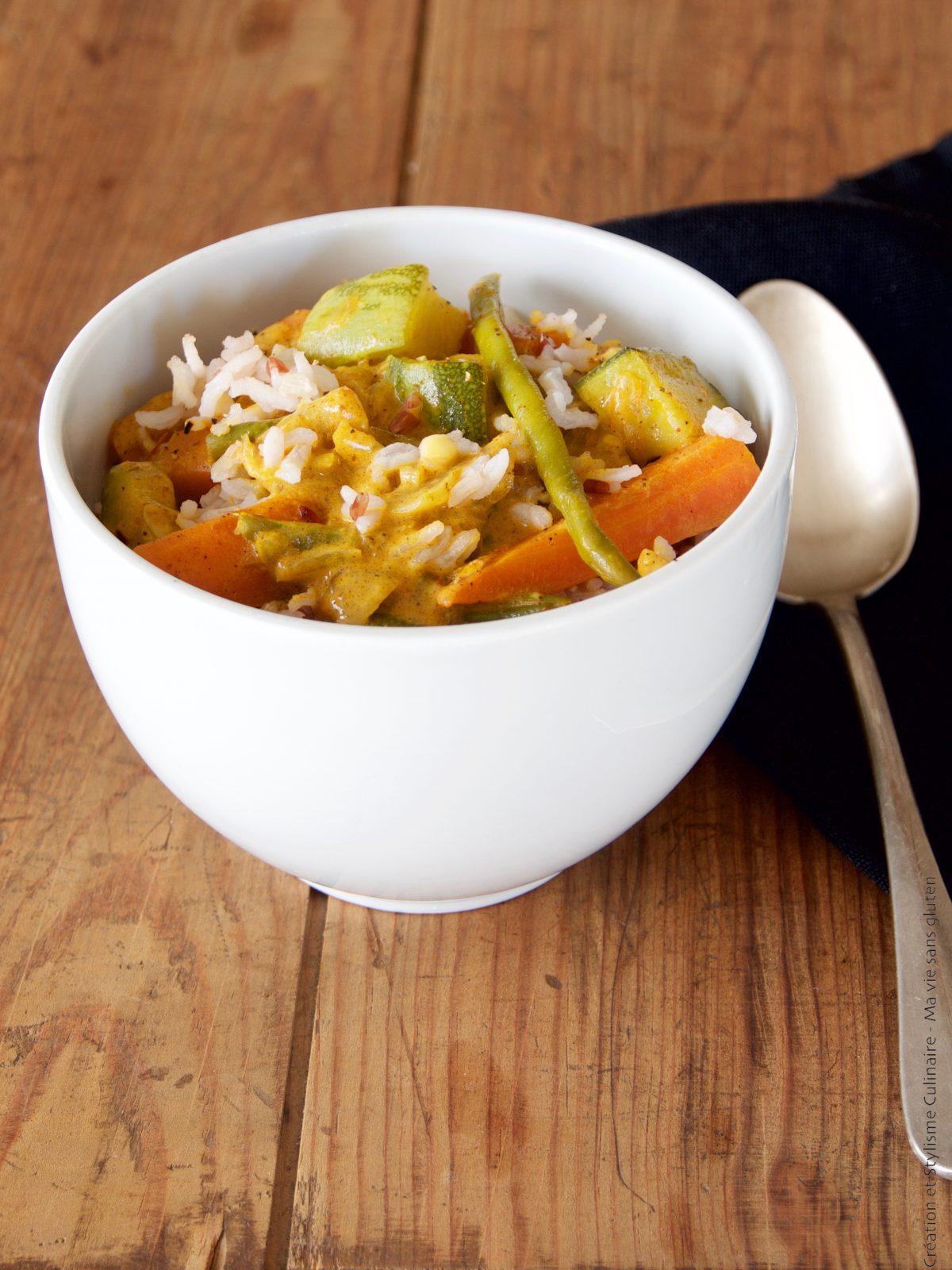 Curry de légumes sans gluten