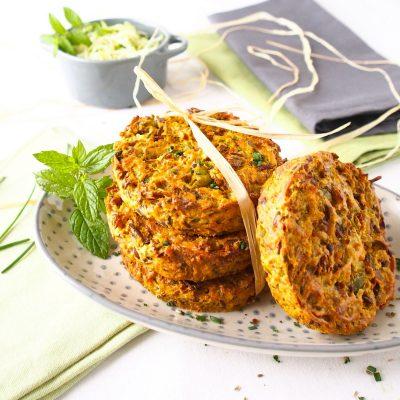 Galettes de céréales et légumes sans gluten