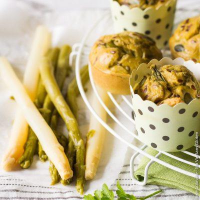 Muffins printaniers aux asperges sans gluten