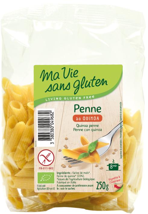 Ma vie sans gluten - Pâtes - Penne au quinoa 250 g