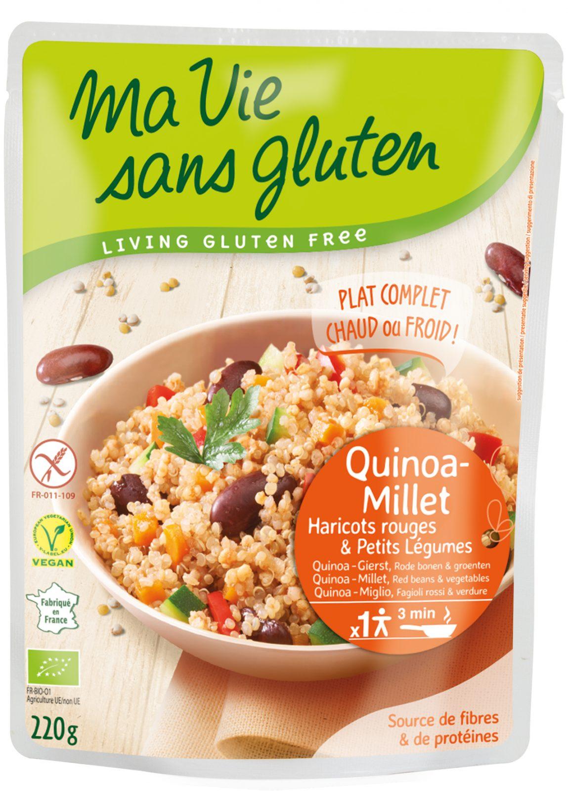 Ma vie sans gluten - Cuisinés express - Quinoa-Millet haricots rouges et petits légumes 220 g