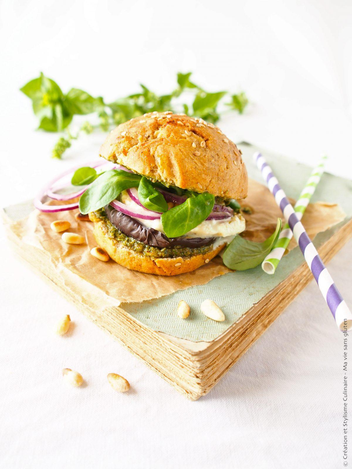 Mini burger végétarien sans gluten