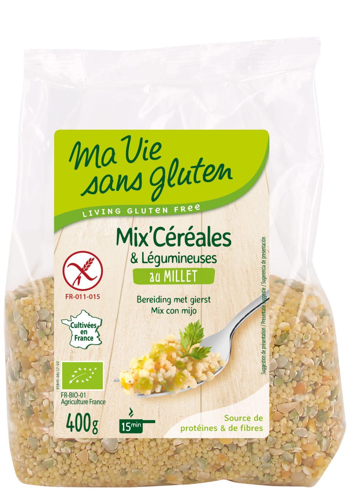 Ma vie sans gluten - Céréales - Mix céréales & légumineuses au millet 400 g