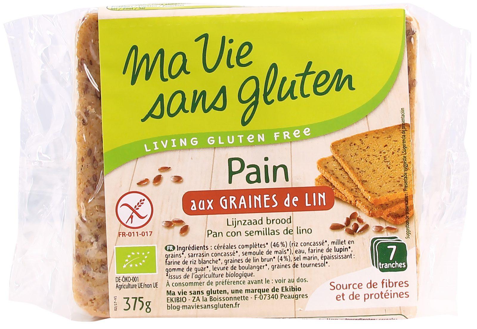 Ma vie sans gluten - Pain bio aux graines de lin