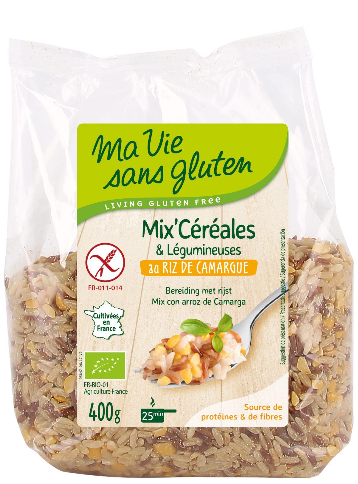 Ma vie sans gluten - Céréales sans gluten - Mix céréales & légumineuses au riz de Camargue 400 g