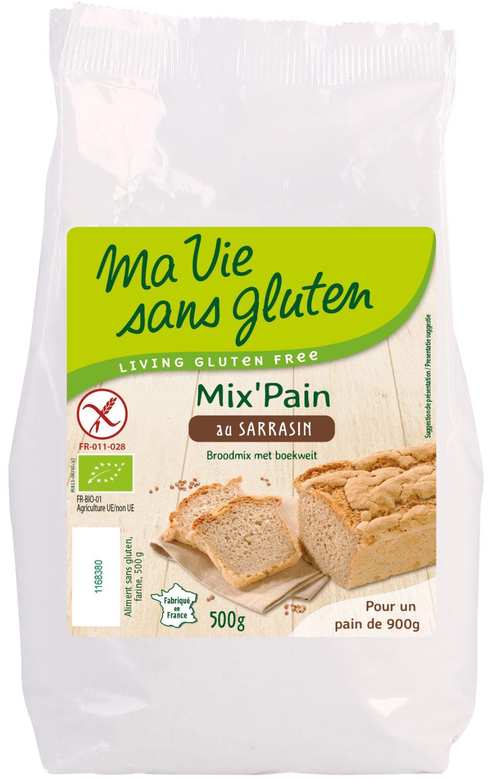 Ma vie sans gluten - Mix de pain sans gluten- Préparation pour pain bio au sarrasin 500 g