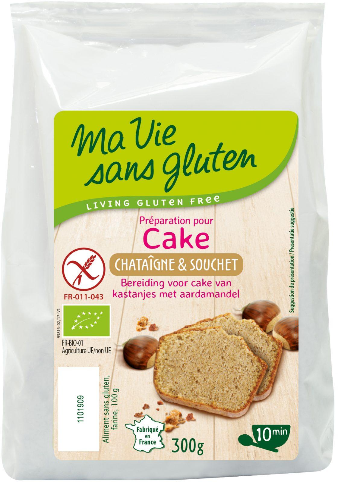 Ma Vie Sans Gluten - Préparation pour Gâteaux - Cakes châtaigne & souchet 300g