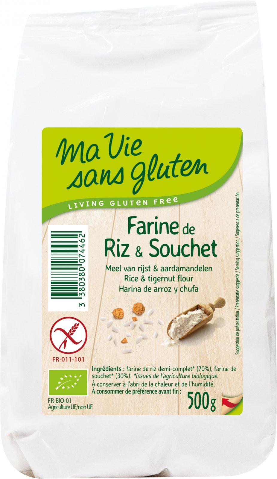 MVSG - farines - Farine bio de riz et souchet 500g