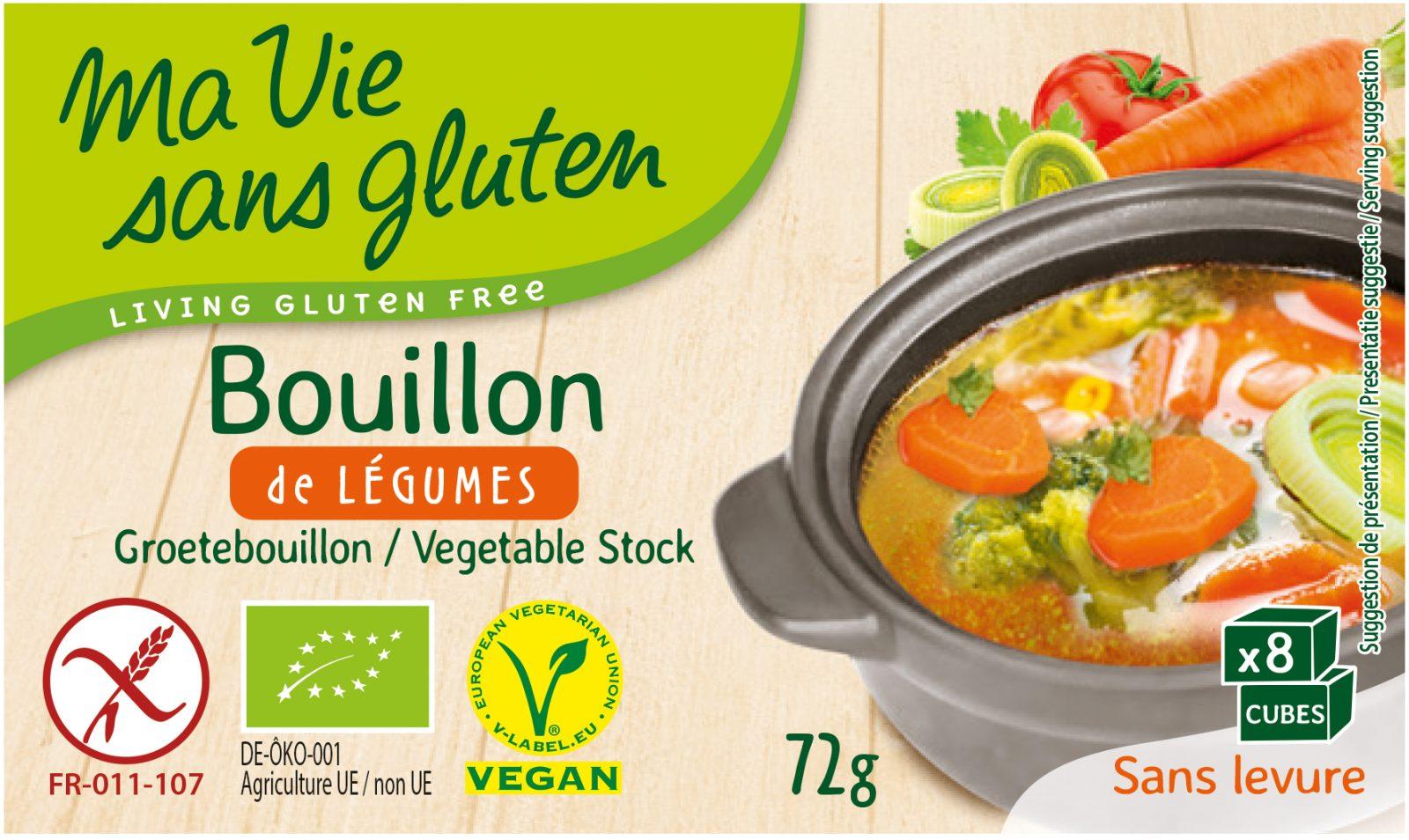 Ma Vie Sans Gluten - Bouillon Bio de légumes