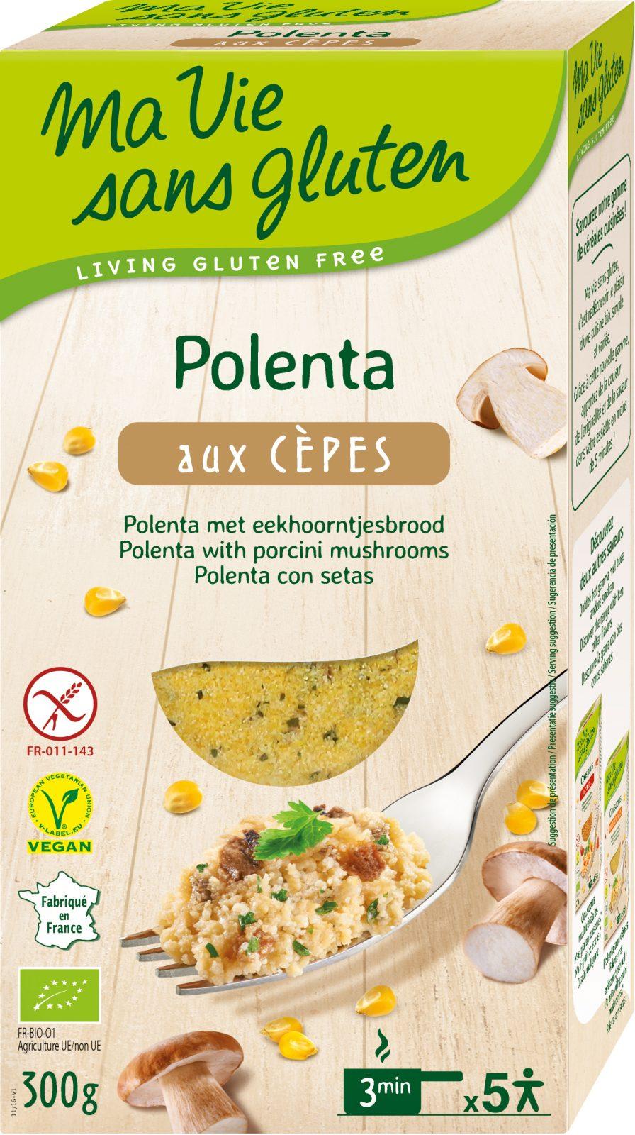 Ma Vie Sans Gluten - Recettes de céréales sans gluten - Polenta aux cèpes - 300g