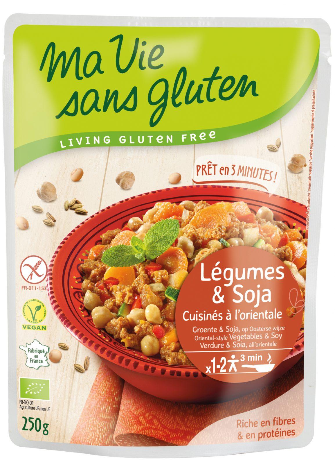 Ma vie sans gluten : Légumes & soja - cuisinés  à l'orientale
