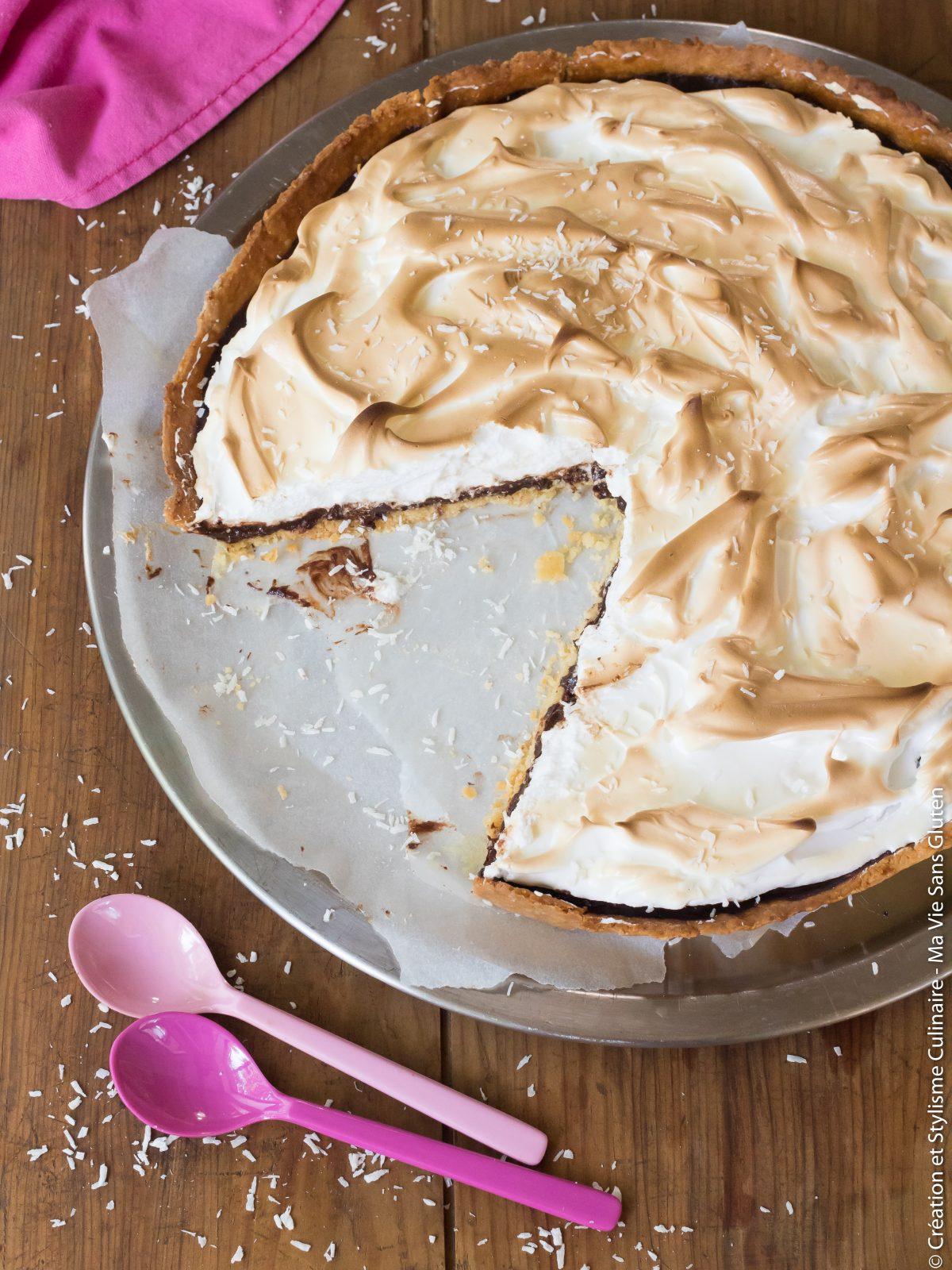 tarte sans gluten choco-coco meringuee-5