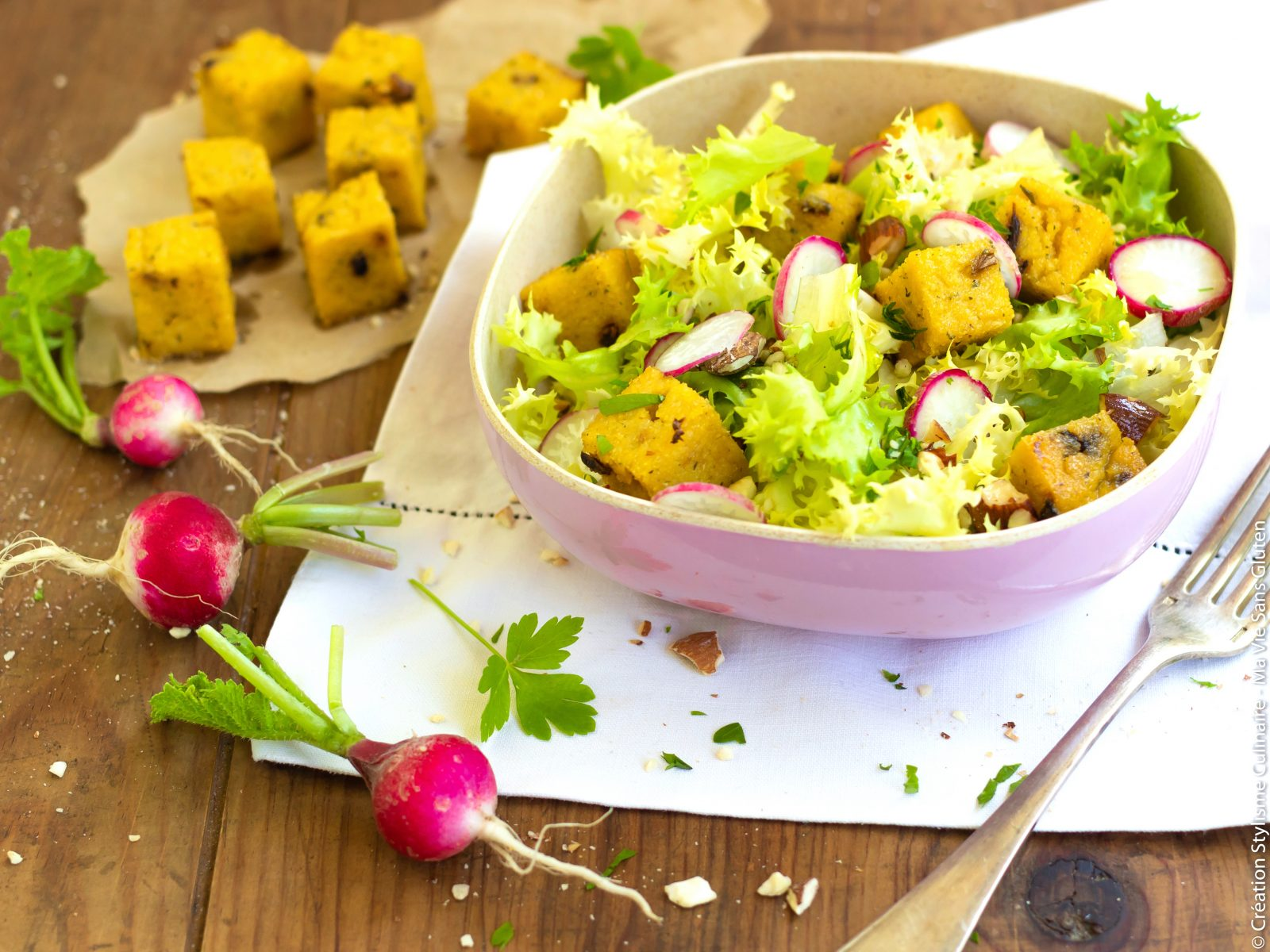 salade de cubes de polenta-8