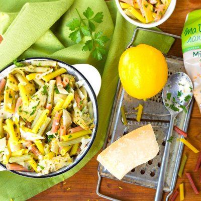 Mini penne des Andes aux artichauts, citron et parmesan-4