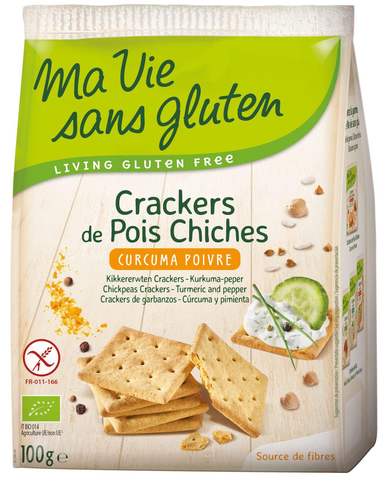 Crackers de pois chiche curcuma  poivre
