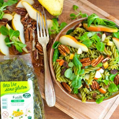 salade fusili pois vert poire mâche-6