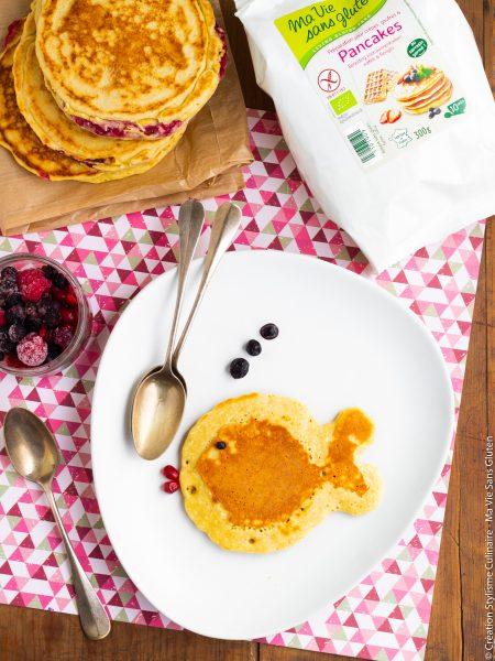 Pancakes sans gluten fourrés à la framboise-2