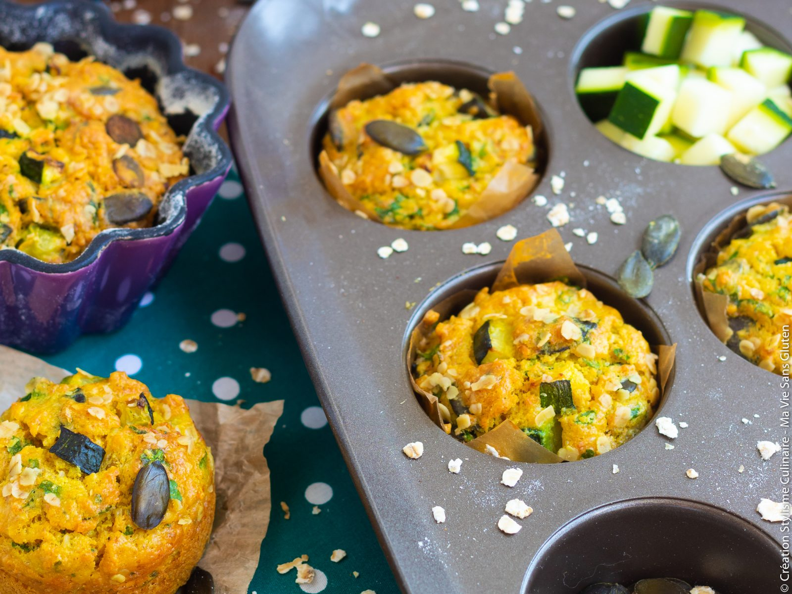 muffins flocons avoine sararsin courgette-