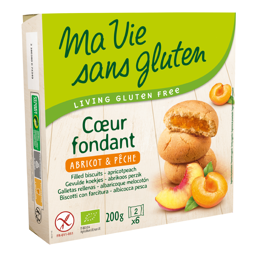 MVSG - biscuits - coeur fondant bio abricot pêche 200g